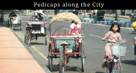 Pedicaps along the City